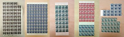 Czechoslovakia 1919-1938  236 Stamps In Parts Of Sheets  Mnh **