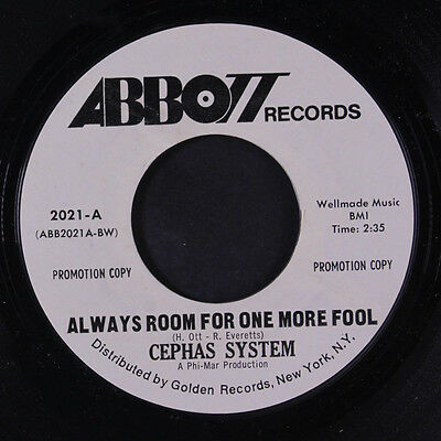 CEPHAS SYSTEM: Always Room For One More Fool / Brand New Day 45 (dj, slightly w