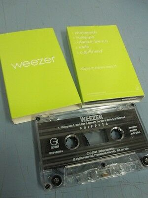 "WEEZER 2001 super RARE promo cassette GREEN ""snippets"" ~MINT~NEW old stock~!!"