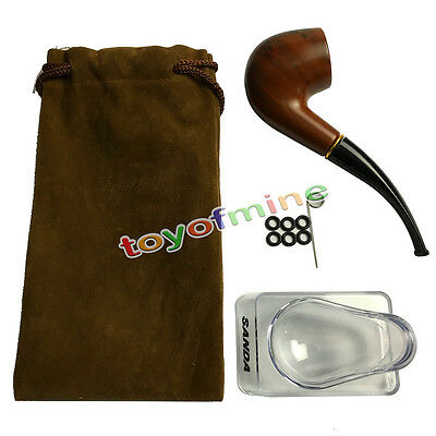 Pleasing Wooden Smoking Pipe Tobacco Cigarettes Cigar Pipes Holster Gift