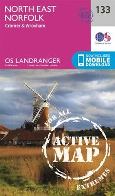 Landranger Active (133) North East Norfolk, Cromer & Wroxham (OS ...