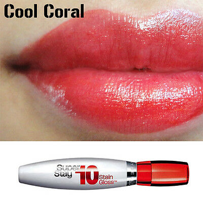 Maybelline SuperStay 10 Stain Gloss -150 Cool Coral- new