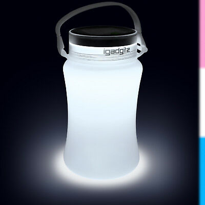 White 100lm USB Rechargeable Solar Camping LED Lantern Waterproof  Bottle Light
