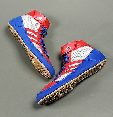 Adidas HVC Senior Wrestling Shoes Royal/Red/White S77937 (NEW) Lists at $70