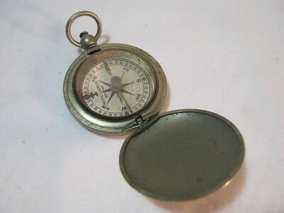 Old Keuffel & Esser Co. Compass Nickel Plate Vtg   T*