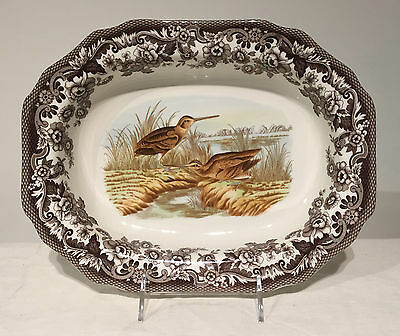 "Spode Woodland Large Open Vegetable Dish 11"" NEW MIB"
