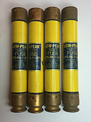 (K-642) New Lot 4 Low Peak LPS-RK-1 1/4SP Amp FUSES 600 VAC 300 VDC Replaces HKR