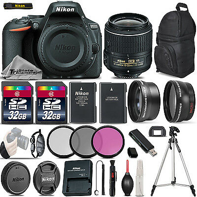 Nikon D5500 Digital SLR Camera +3 Lens 18-55mm VR II- 64GB Great Saving Full Kit