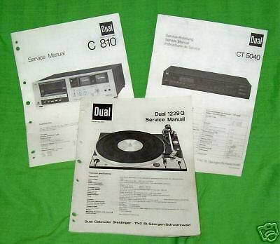 Dual Service Manuals-  Turntables Cassette  Electronics
