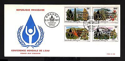 8512-REPUBLIC RWANDAISE-FIRST DAY COVER RWANDA.1977.Conference WATER.AFRICA.FDC.