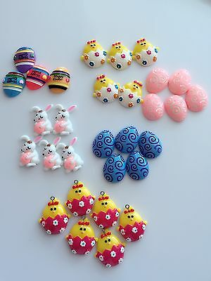 Kids Child HAPPY EASTER plastic craft DIY hat party cake decorating accessory