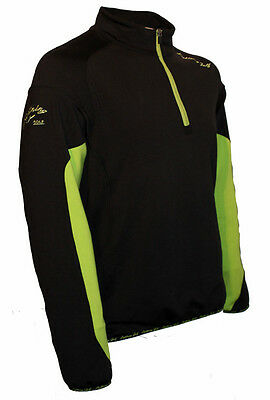 Lightning Golf Black & Green Jacket Size 4XL - Zip Top Windbreaker Showerproof