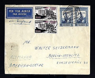 8508-MOÇAMBIQUE-AIRMAIL COVER VILA PERY to STEGLITZ (germany)1947.AFRICA.Aerien.