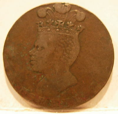 Barbados 1788 Copper Penny Nice Circulated 18th Century Coin