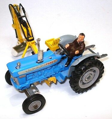 Corgi No. 74 Ford 5000 Super Major Tractor & Side Mounted Trencher - A/mint