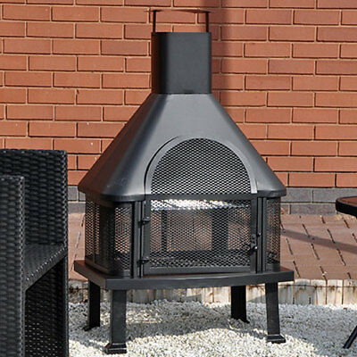 Outdoor Garden Fire Place Log Burner BBQ / Patio Heater