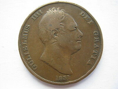 1831 copper Penny, .W.W, F. ACS