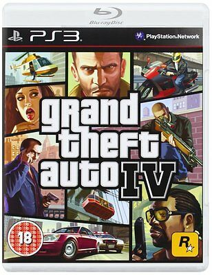 Grand Theft Auto IV PS3 Sony Playstation 3 Video Game Brand New Sealed GTA 4