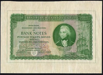 Bradbury, Wilkinson & Co. Ltd. Advertising Note - Green