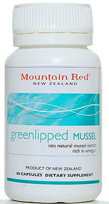 Mountain Red Green Lipped Mussel Extract - 60 Vegetarian Capsules (500mg)