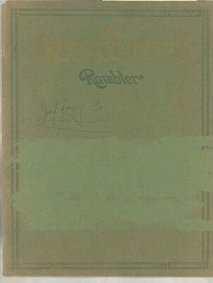 1913 Rambler 4 Cylinder Cross Country ORIGINAL Prestige Brochure Kenosha wv6118