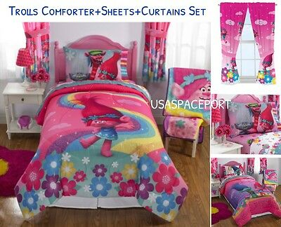 8pc ~MY LITTLE PONY~ Twin-Single COMFORTER+SHEETS+CURTAINS SET Bed Room in a Bag
