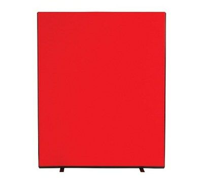 1800 x 1500mm Office Divider Privacy Screen Exhibition Freestanding Red, F-6083