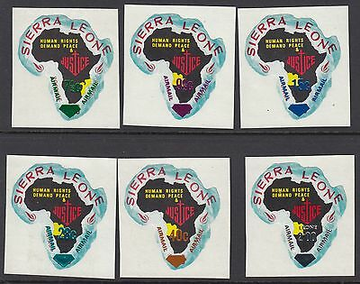 SIERRA LEONE 1970 Airmail opts on Maps for all six territories SG 505-10 NMH