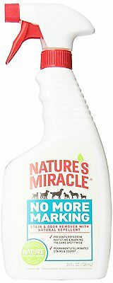 Natures Miracle No More Marking Spray All Natural Pet Repellent Removes Odor 24z