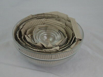 SET OF 9 ARCOROC FRANCE CLEAR  GLASS NESTING BOWLS  NEW in BOX!!