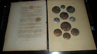 1800'S Barclays Copies Of Ancient Roman Coins Large Bronze And Silver Coins