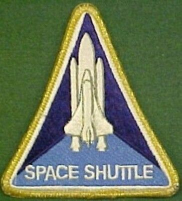 Larger NASA Space Shuttle Yellow Tinsel Border Patch