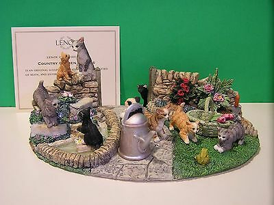 LENOX COUNTRY GARDEN KITTENS Cat sculpture NEW in BOX with COA