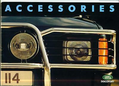 Land Rover Discovery Accessories Sales Brochure 1992 1993