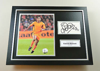Patrick Kluivert Signed Photo Framed 16x12 Holland Memorabilia Autograph Display