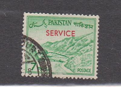 (UXWW013) PAKISTAN 1962 Official Service ovpt stamp 7P Emerald green used