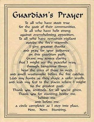 Guardian's Prayer Parchment for Book of Shadows, Altar!