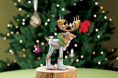 Patience Brewster Krinkles Dasher Mini Ornament Dash Away Reindeer Nrfb