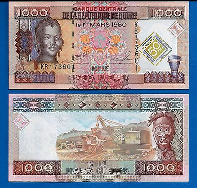Guinea P-43 1000 Francs Year 2010 Uncirculated Banknote Africa