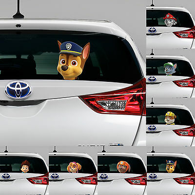 PAW PATROL Peeking on Board Kids Boys Bedroom Decal Wall Car Art Sticker Gift
