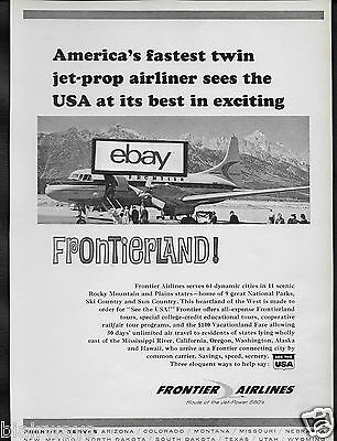 Frontier Airlines 1965 Convair 580 At Jackson Hole Frontierland Ad
