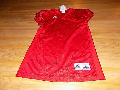 Youth Size Small Russell Solid Red Football Athletic Practice Jersey New