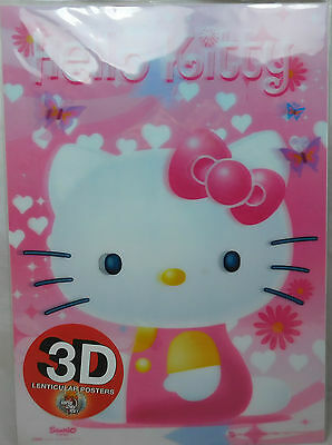 Original 3D Lenticular Poster Hello Kitty Katze