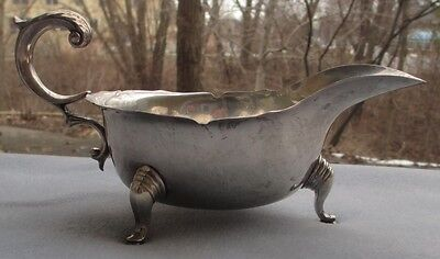 Vintage Stieff Sterling Silver Williamsburg Handled Footed Gravy or Sauce Boat