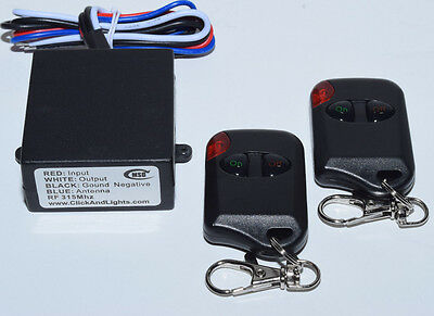MSD 12V DC on off LED lighting relay switch with 2 remote transmitters RM100