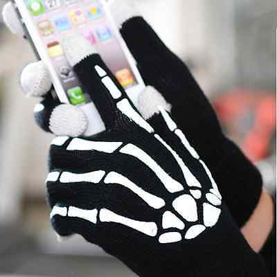 Unisex Skeleton Smart Phone Tablet Touch Screen Gloves Warm Winter Mittens Gift