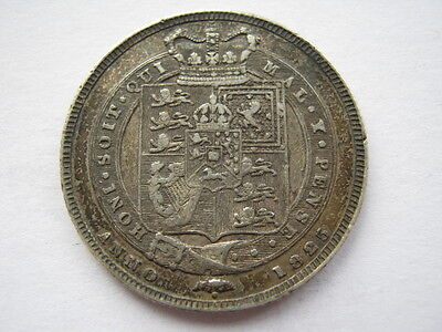 1825 Shilling, First bust, VF. ACS