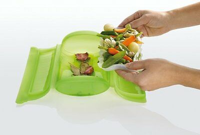 LEKUE STEAM CASE with TRAY 1-2 Person 650ml VEGETABLE STEAMER Silicone GREEN