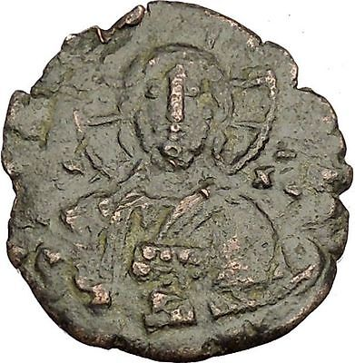JESUS CHRIST Class A1 Anonymous Ancient 969AD Byzantine Follis Coin i54203