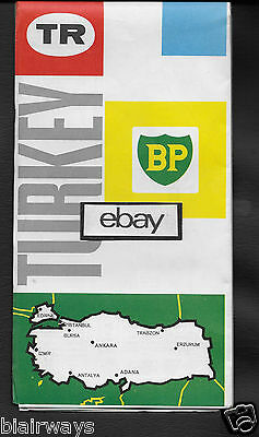 Bp Oil Company 1965 Map Of Turkey Mocamp-Camping Touring Service 1:2,200,000